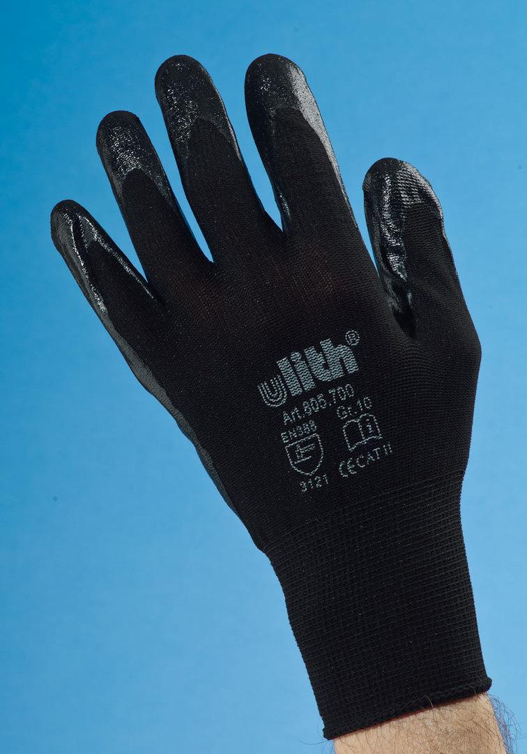 handschuh ulith nitril feinstrickhandschuh schwarz knoti. Black Bedroom Furniture Sets. Home Design Ideas