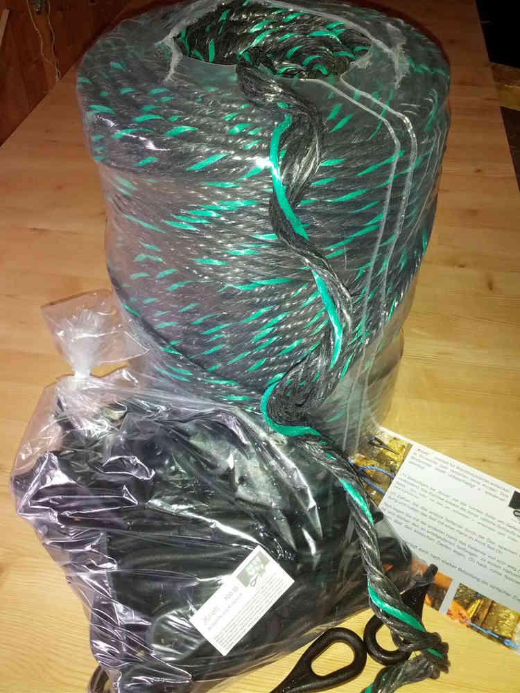 Gemeinsame Bündelset- Holzseil ca.10kg +100 Knoti für ca. 50 Ster-Bündel &ZY_05
